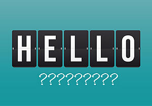 What to say after hello
