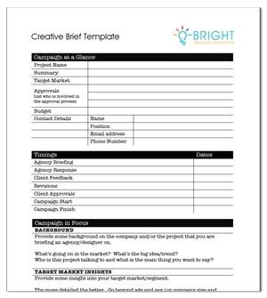 Creative agency brief template for Ogilvy creative brief template