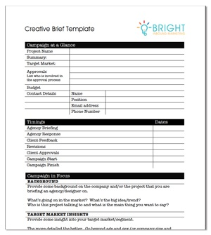 Perfect Download   Creative Brief Template